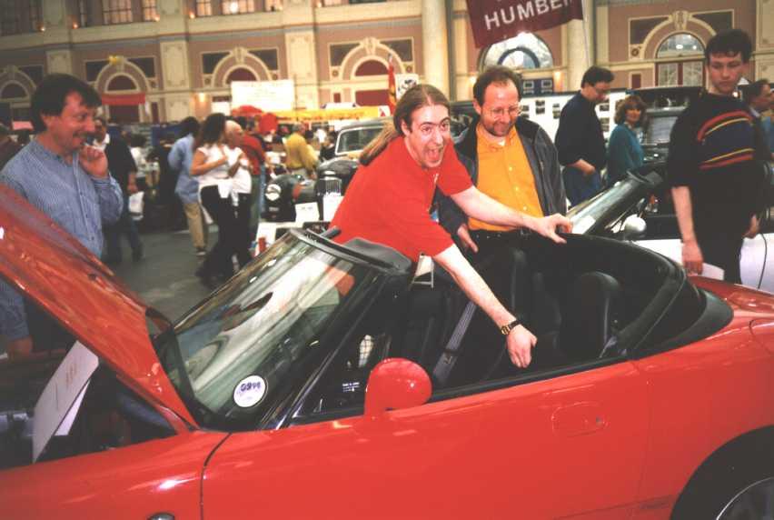 David Benson at the Classic Car Show