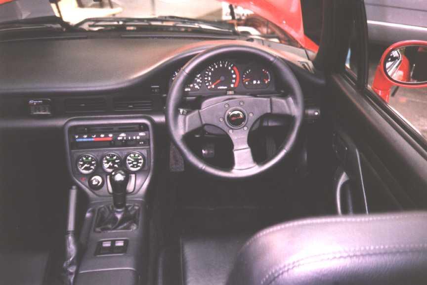 Interior with Dino Steering wheel